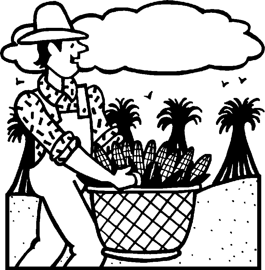 Harvest Black And White Clipart - Clipart Suggest