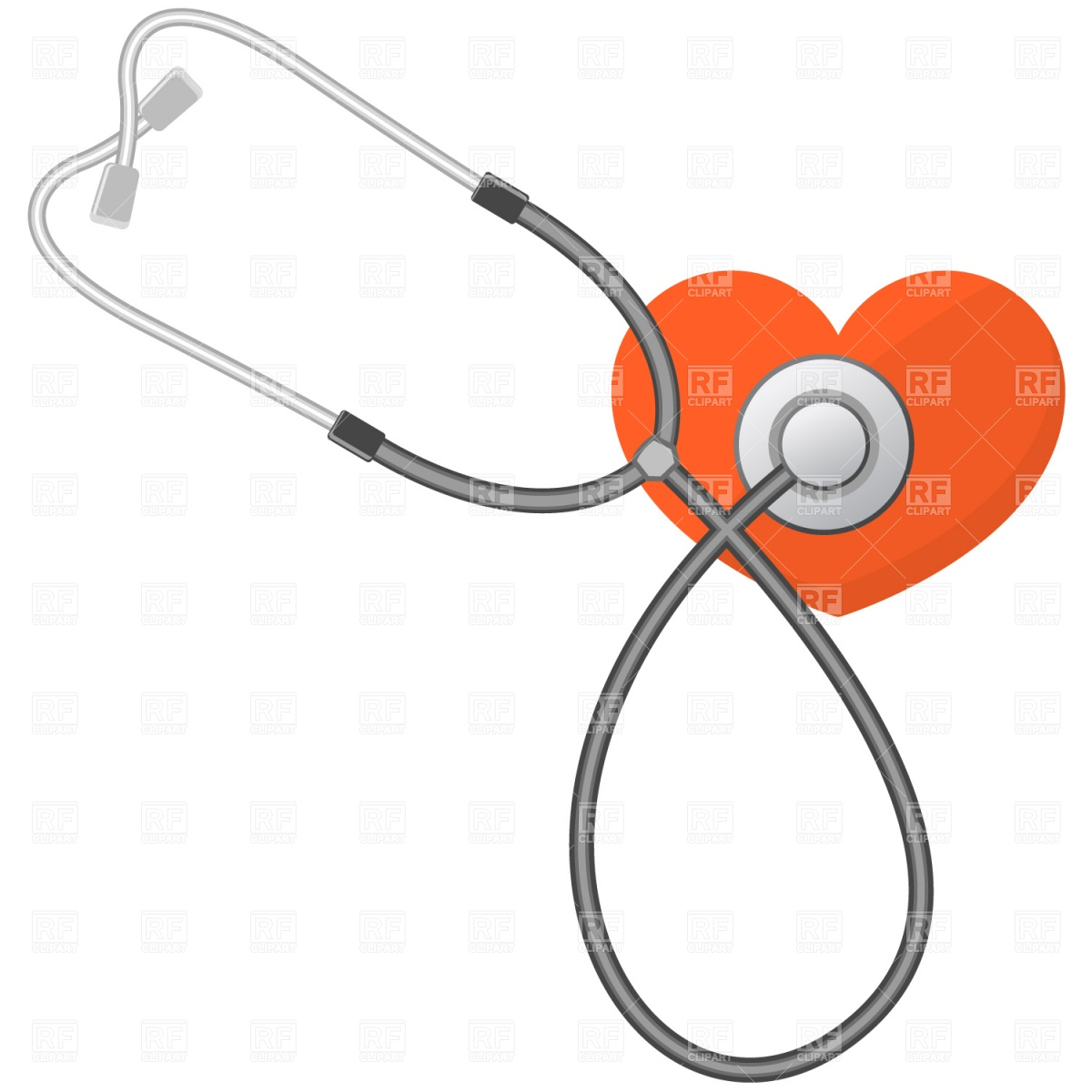 Heart With Stethoscope Clipart - Clipart Kid
