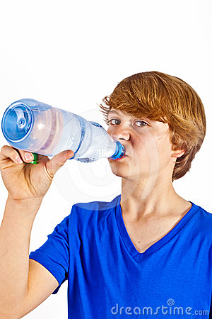 More Similar Stock Images Of   Thirsty Boy Is Drinking Water