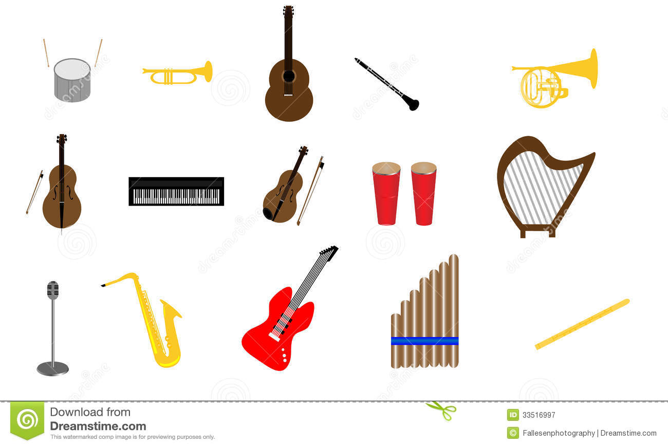 Orchestra Instruments Clipart Collection Of Instruments