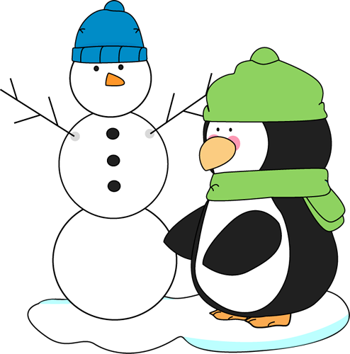 Penguin And Snowman Clip Art   Penguin And Snowman Image