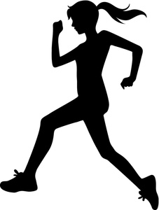 Runner Clipart Image   Girl Running Or Sprinting In A Track And Field