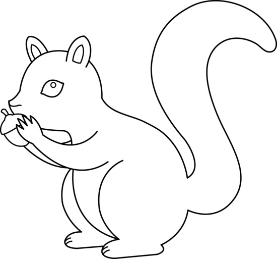 Squirrel Clipart Black And White   Clipart Panda   Free Clipart Images