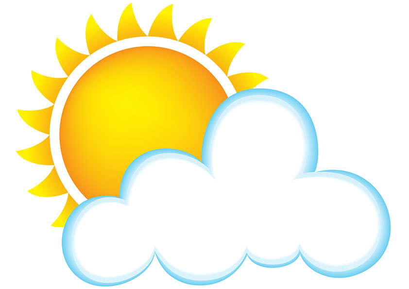 Sun And Clouds Clipart - Clipart Kid