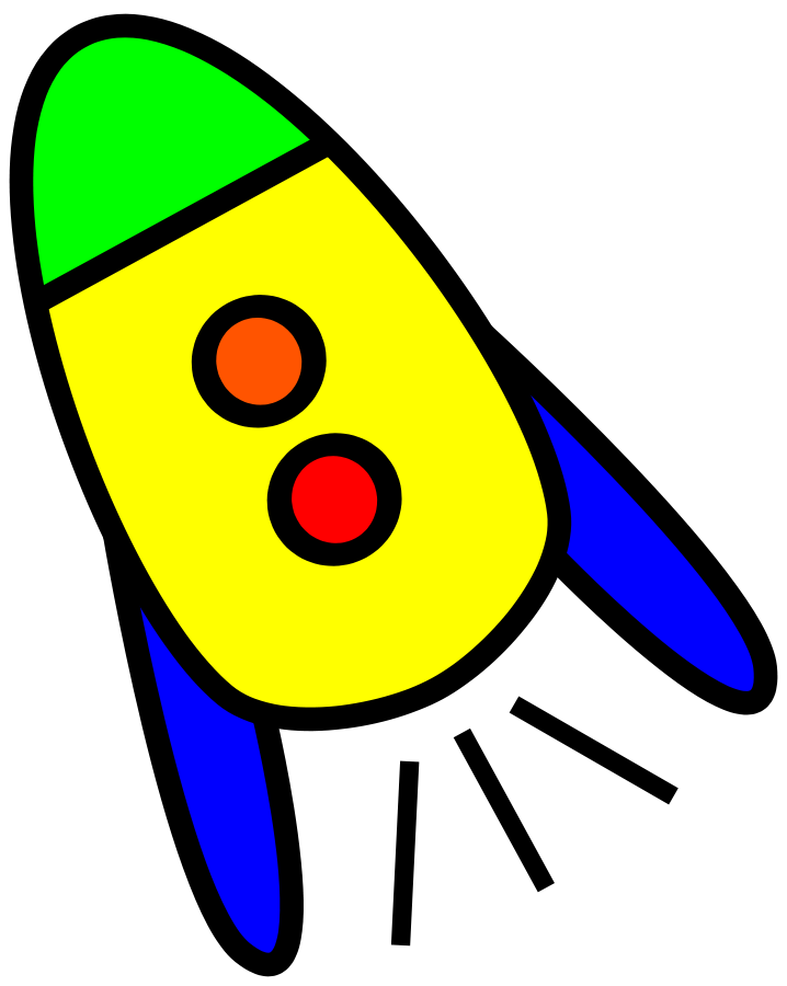 Very Simple Rocket Clipart Large Size