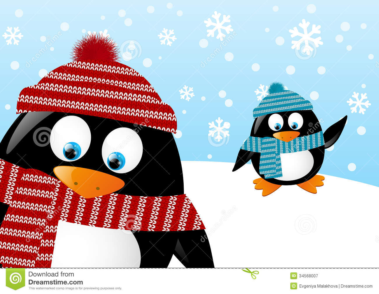 Winter Penguin Clip Art Black And White   Clipart Panda   Free Clipart