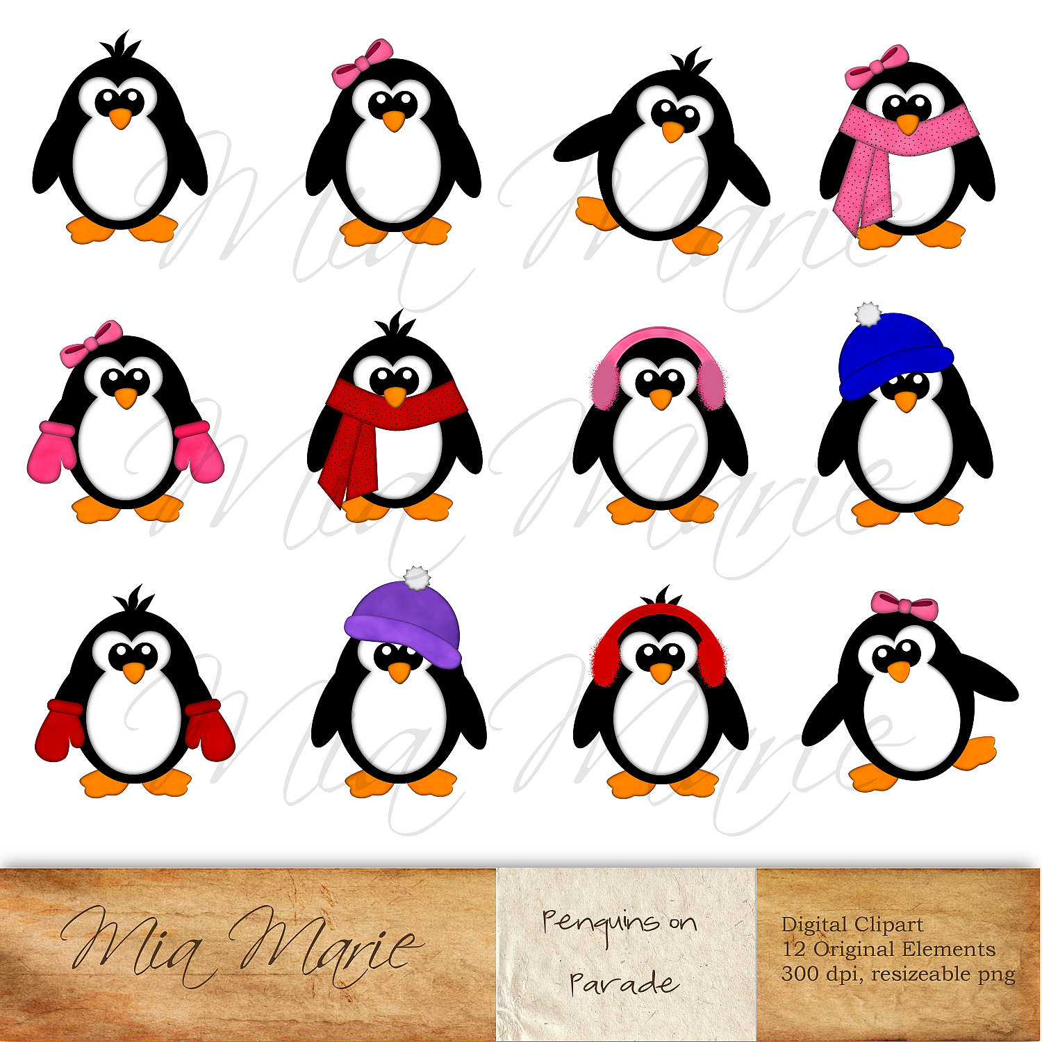 Winter Penguin Clipart - Clipart Kid