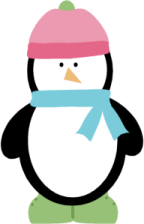 Winter Penguin   Vector Clip Art Image Of A Winter Penguin Wearing A