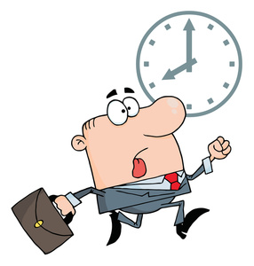 Work Clipart Image   Business Man Racing The Clock To Get To Work On