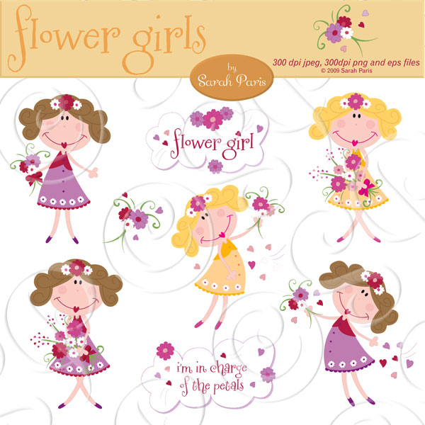 301 Moved Permanently: Flower Girl Clipart