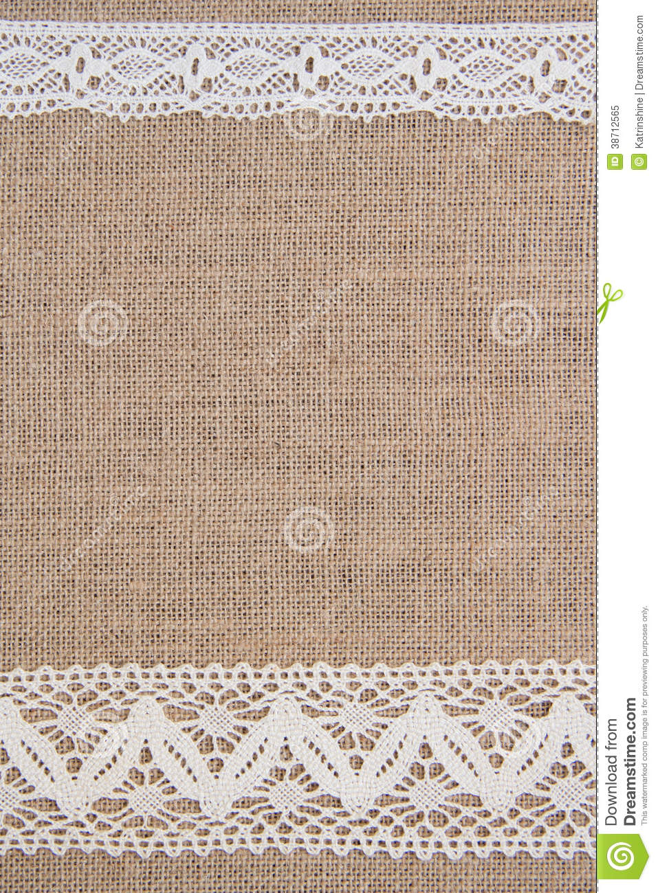 Burlap Background With Lace Royalty Free Stock Photo   Image  38712565