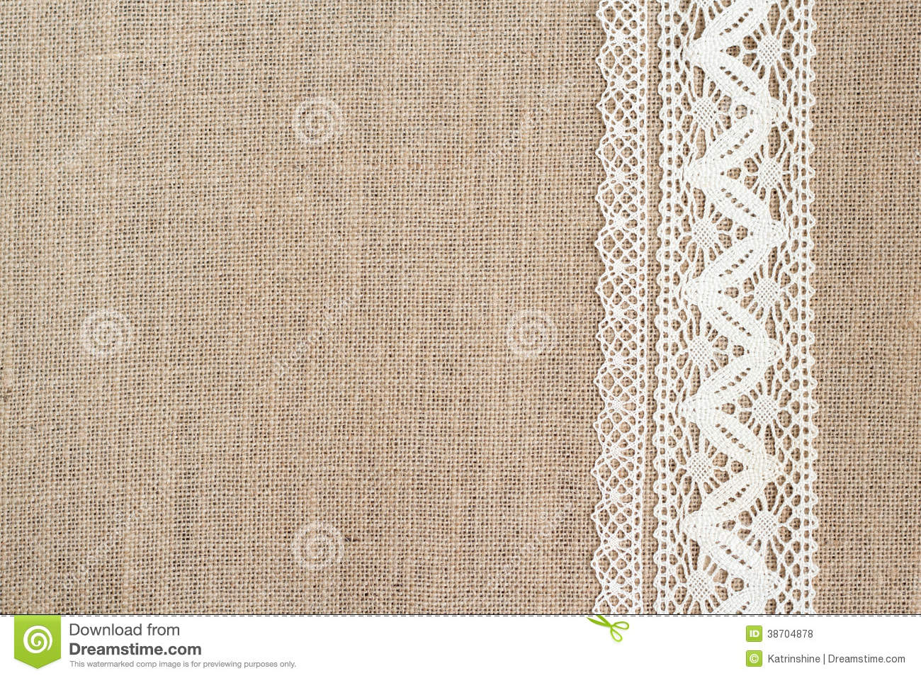 Burlap Background With Lace Royalty Free Stock Photos   Image