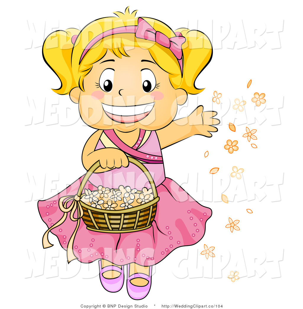 Wedding Flower Girl Clipart