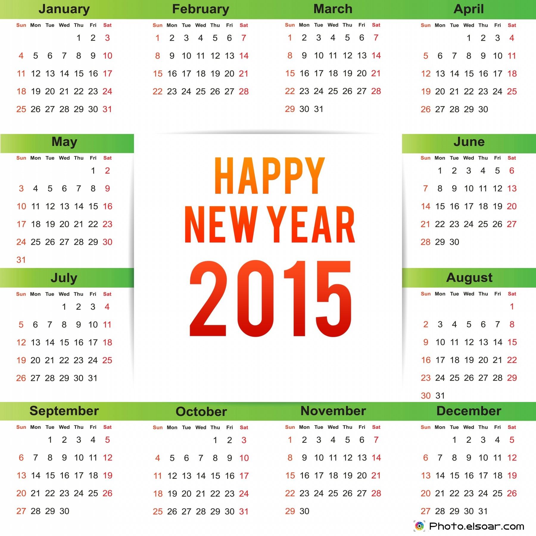 2015 Calendar Clip Art Free