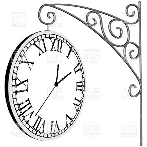 Clock With Roman Numerals Download Royalty Free Vector Clipart Eps 5Pm3Eq Clipart