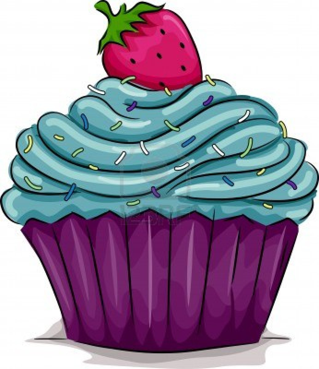 Illustration Of A Cupcake With A Strawberry On Top   Free Images At