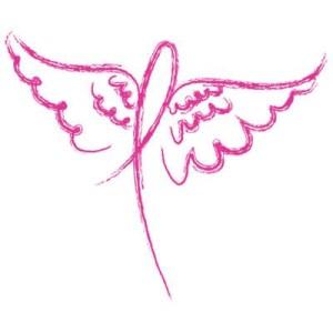 Pink Ribbon Angel Clipart - Clipart Kid