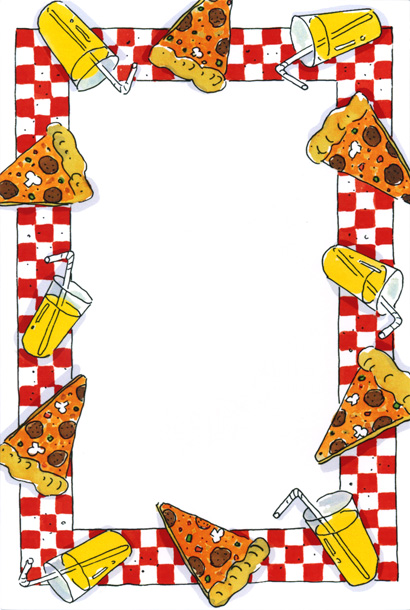 Pizza Border Clip Art Pizza Party Norms