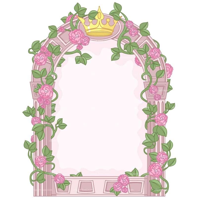princess frame clip art