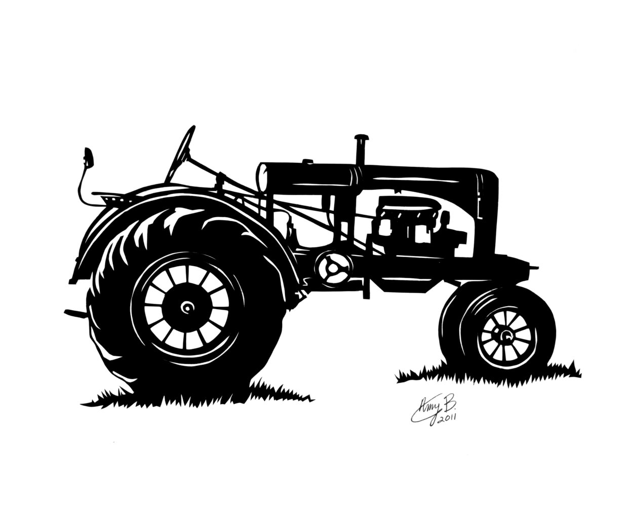 vintage tractor clipart - photo #3
