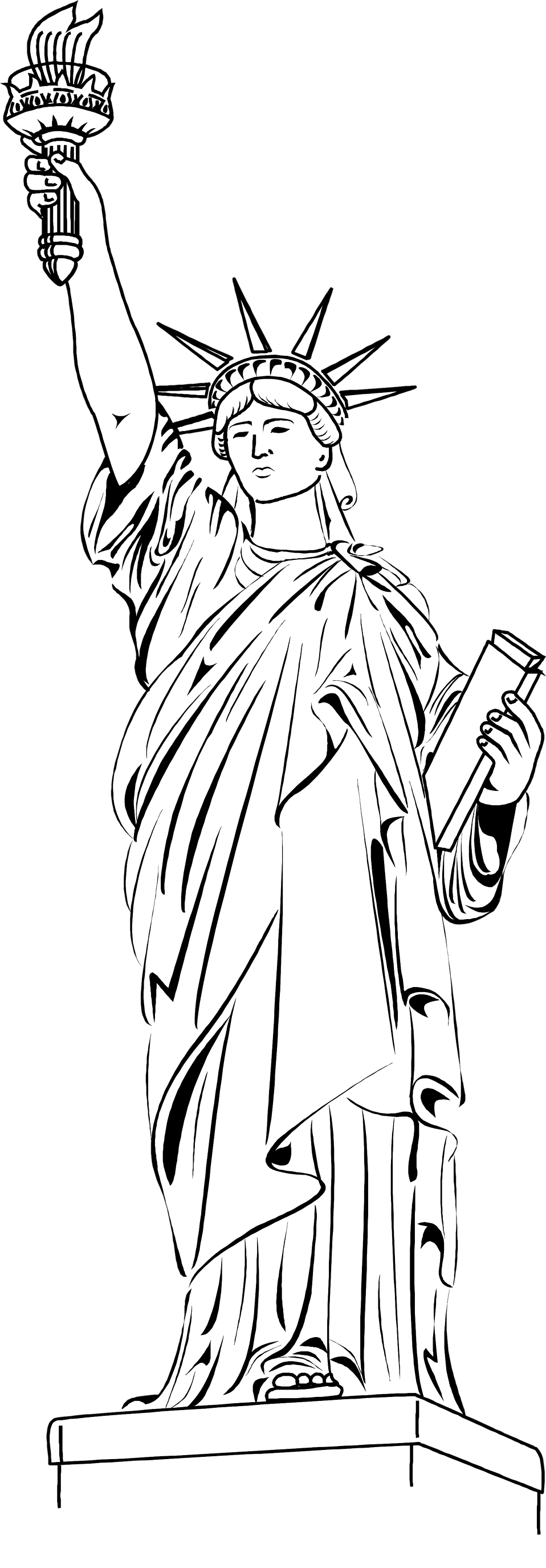 statue of liberty drawing template - lady liberty clipart clipart suggest