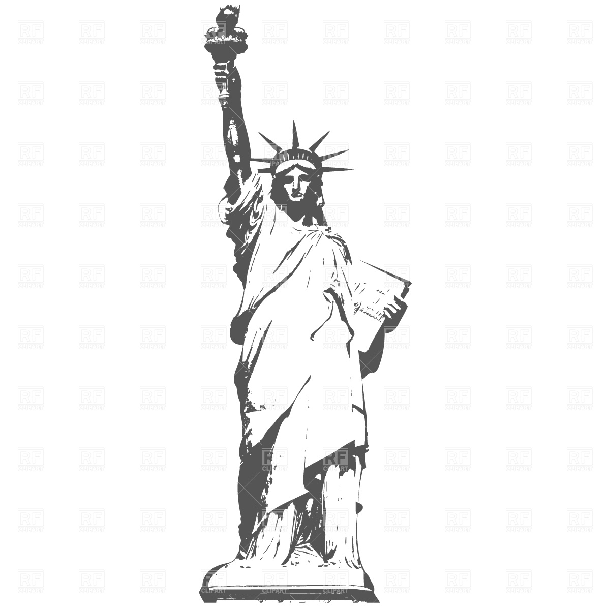 Statue Of Liberty Silhouette Clipart - Clipart Kid
