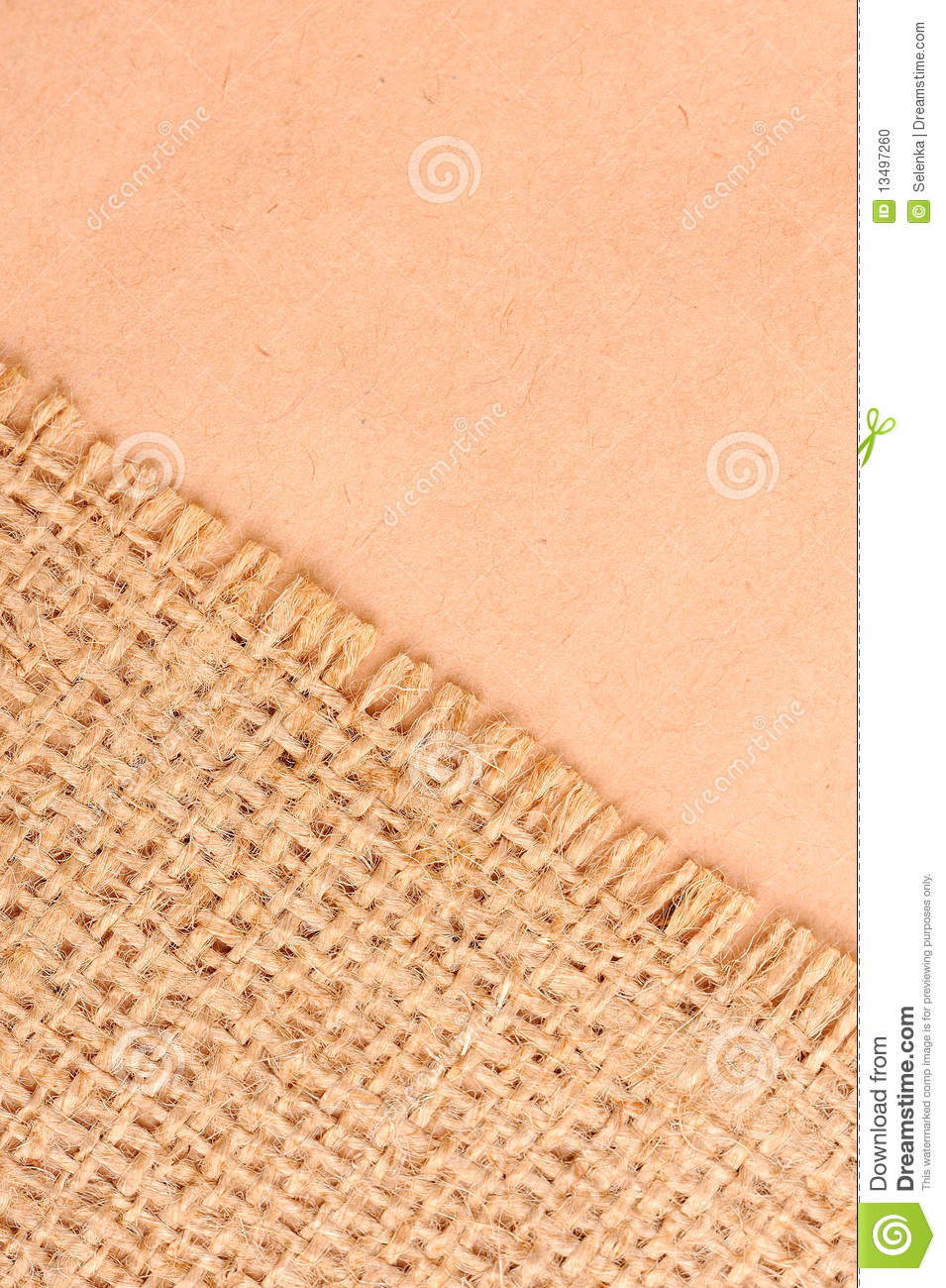 Stock Photo  Burlap And Paper Background