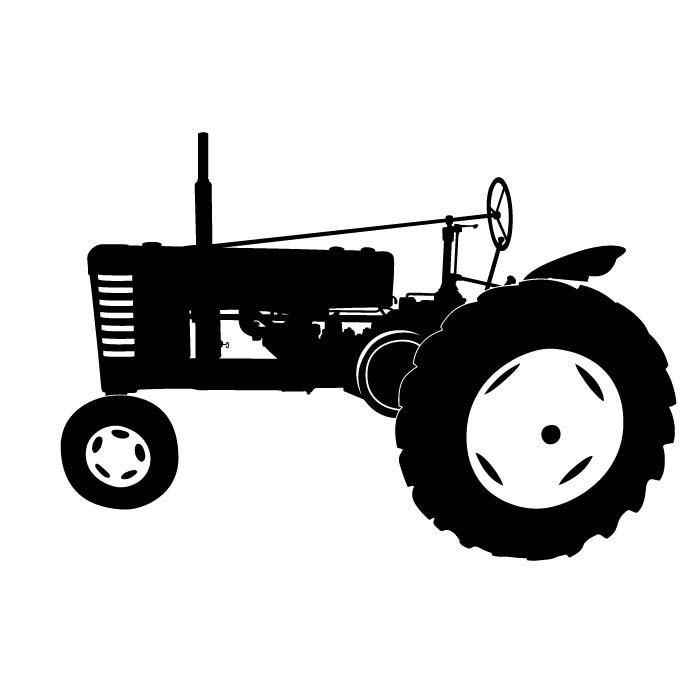Tractor Silhouette Clipart - Clipart Suggest