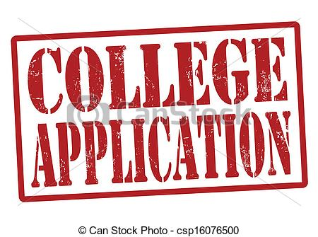 Vector Clipart Of College Application Stamp   College Application