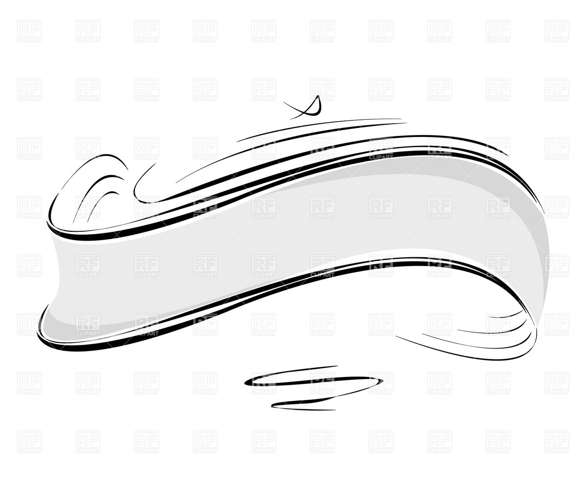 Line Art Ribbon : Decorative dividers clipart suggest