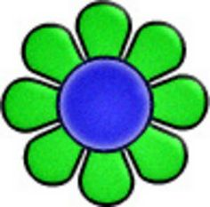 70s Groovy Clip Art   Free Retro Clipart Picture Of A Day Glo Flower