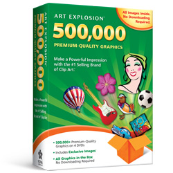 Art Explosion 500000 1 Selling Brand Of Clip Art 500000 Royalty Free