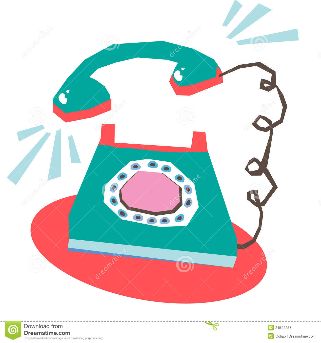 Business Telephone Ringing Clipart