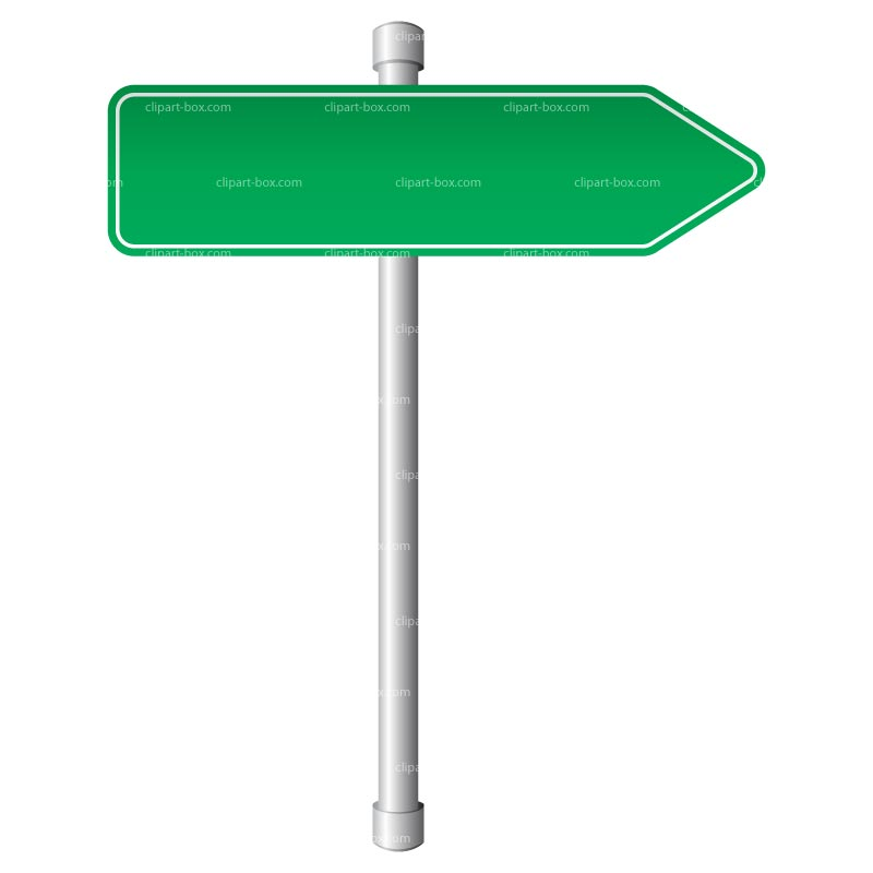 Clipart Direction Sign   Royalty Free Vector Design