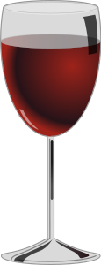 Glass Of Red Wine Clipart