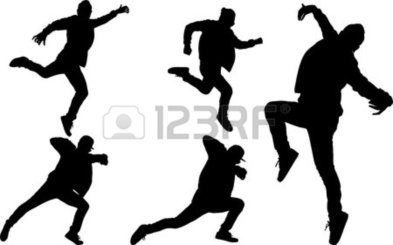 Hip Hop Dancer Wallpaper 24200935 Silhouette Of Hip Hop Dancer Vector