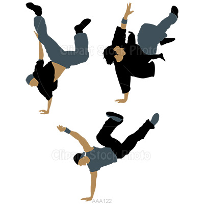 Hip Hop Street Break Dancers Clipart Vectors
