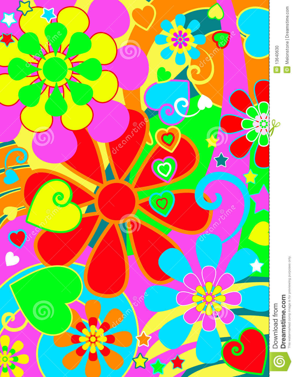 More Similar Stock Images Of   Hippie Chic Flower Power