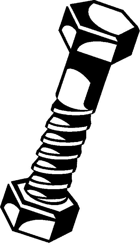 Nut And Bolt Cartoon Clipart - Clipart Kid