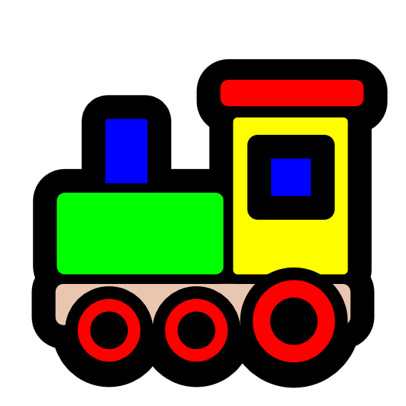 Pitr Toy Train Icon Scalable Vector Graphics Svg Clip Art Scallywag