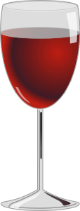 Red Wine Glass Clip Art Vector