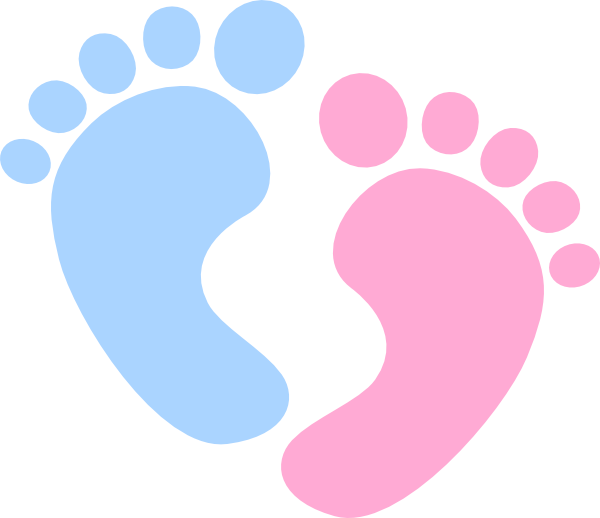 Baby Girl Footprint Clipart - Clipart Kid