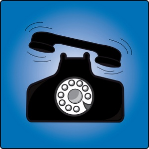 Ringing Telephone Clipart Image   Telephone With Handset Ringing Off