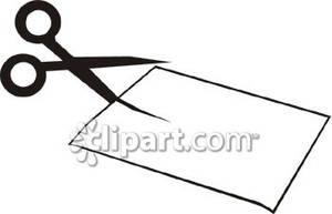 Scissors Cutting Paper Clipart   Clipart Panda   Free Clipart Images