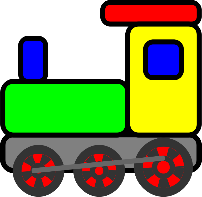 Scripted Toy Train By Jaynick   From The Ebook I Love To Color Play