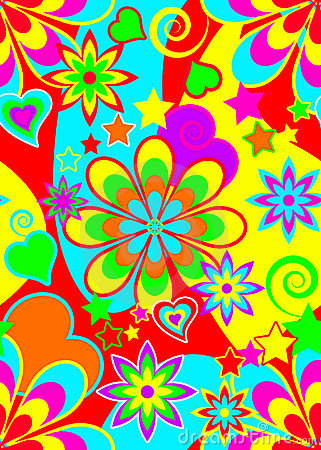 Seamless Psychedelic Hippie Pattern Royalty Free Stock Photo   Image