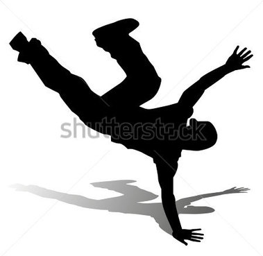 Source File Browse   Sports   Recreation   Hip Hop Dancer Silhouette