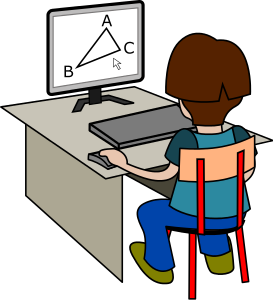 Student Geometry Computer   Http   Www Wpclipart Com Education Kids
