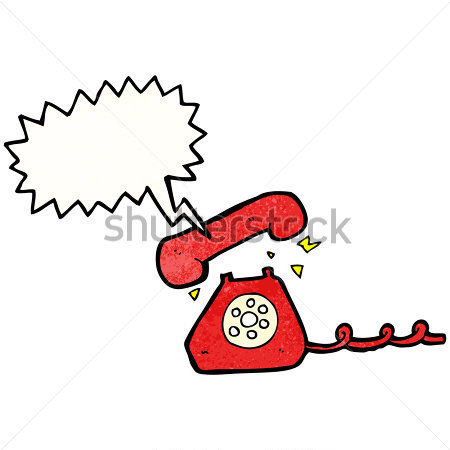 Cartoon telephone ringing