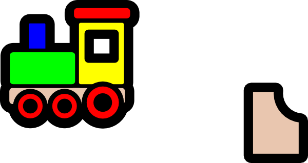 Toy Train Icon Clip Art At Clker Com   Vector Clip Art Online Royalty
